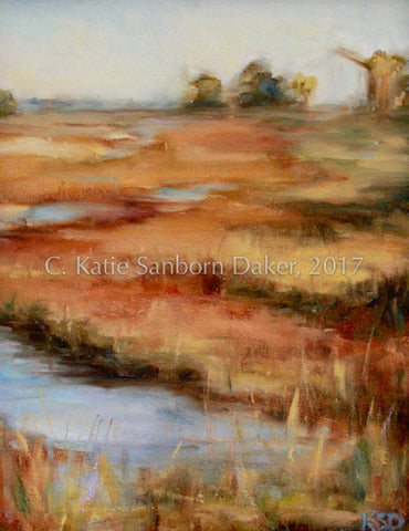 """Marsh"" Oil Painting by Katie Sanborn Daker"