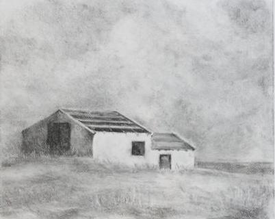 """Solitude"" Charcoal Study by Katie Sanborn Daker"