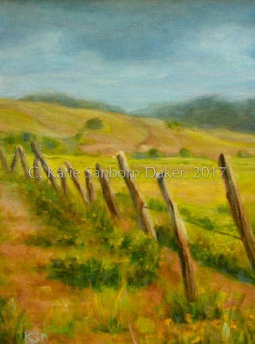 """Dusty Road"" Oil Painting by Katie Sanborn Daker"
