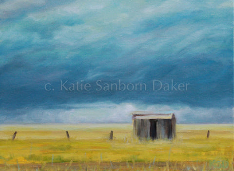 "SOLD-""Road Trip II"" Oil Painting by Katie Sanborn Daker"