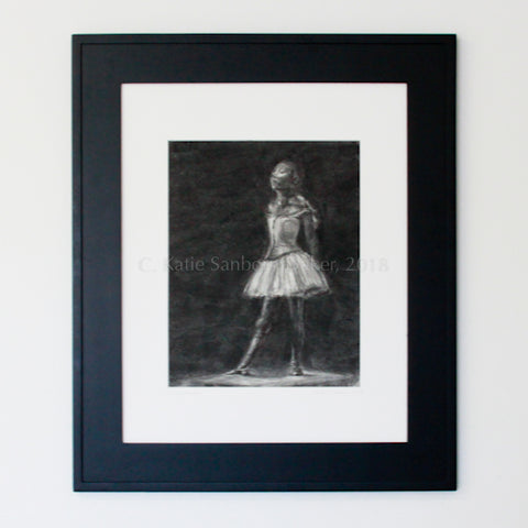 """Degas' Dancer at Fourteen"" Original Charcoal Drawing by Katie Sanborn Daker"