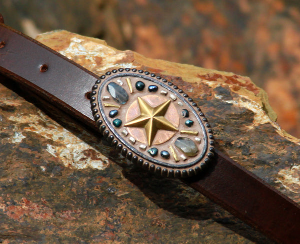 "Handmade 3/4"" Wide Brown Leather Belt Strap"
