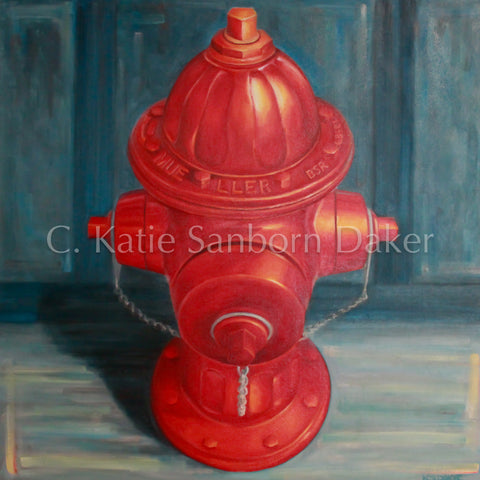 """Portrait of a Hydrant""-SOLD (Commission)"