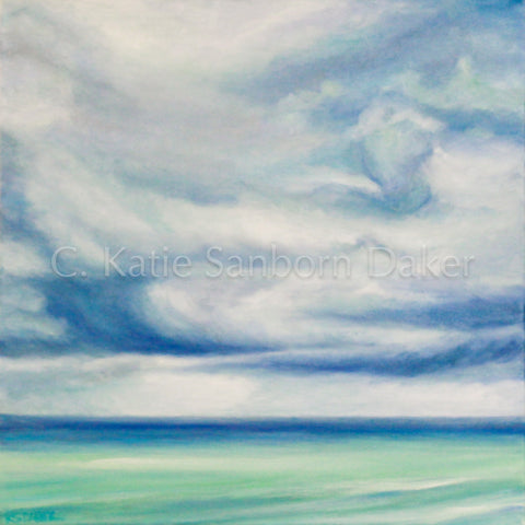 "SOLD-""Storm's A Brewin"":  20"" x 20"" Oil on Canvas"