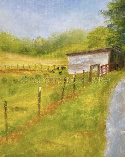 """Fleetwood Farm II"" Oil Painting Sketch:  9"" x 12"""