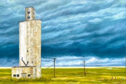 """Road Trip V"" Oil Painting by Katie Sanborn Daker:  36"" x 24"""