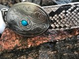 Natural Python Country buckle