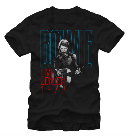 David Bowie - T-Shirt -  Live London 1972