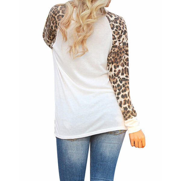 Ladies Long Sleeve Leopard Casual Top
