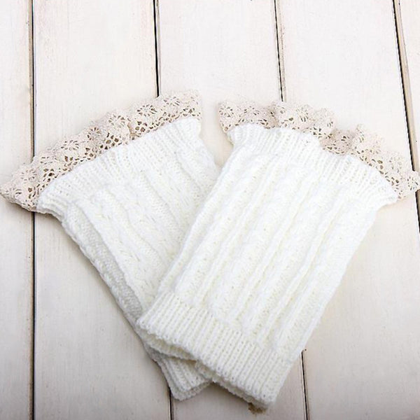 Women's Knitted Lace Boot Socks