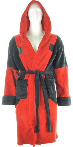 DEADPOOL - SYMBOL FLEECE HOODED ROBE