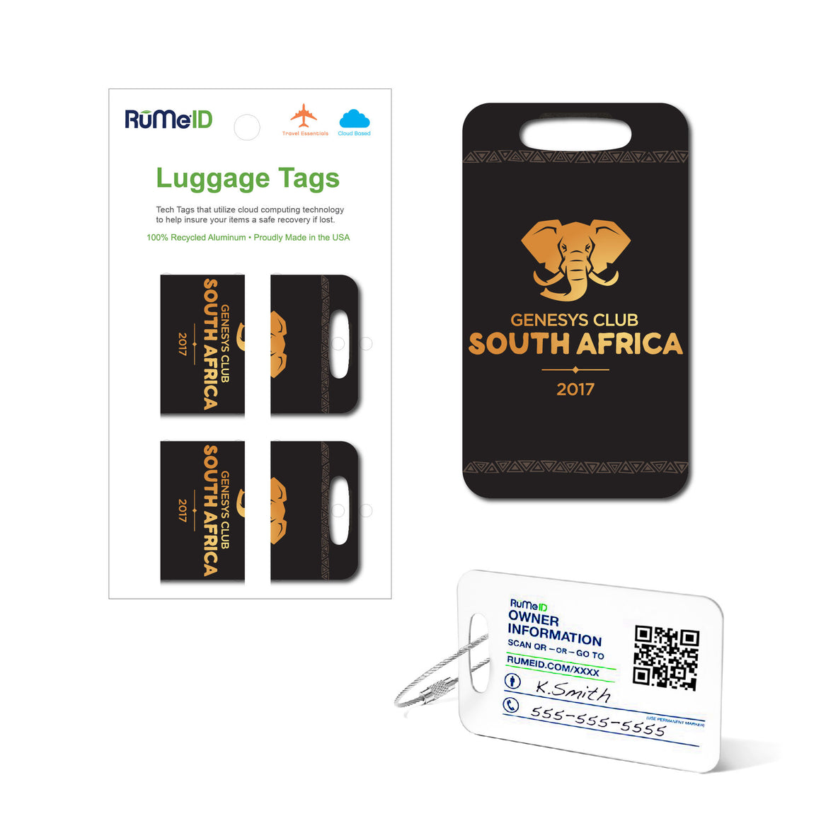 RuMeID Luggage Tags