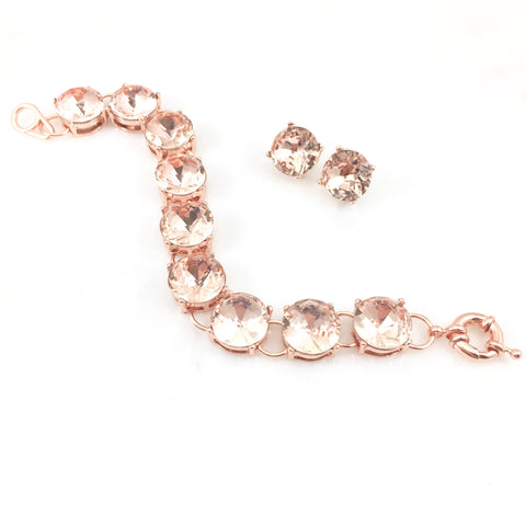 Rose Gold Bracelet & Earring Set