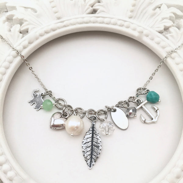 Sterling Story Stack Necklace