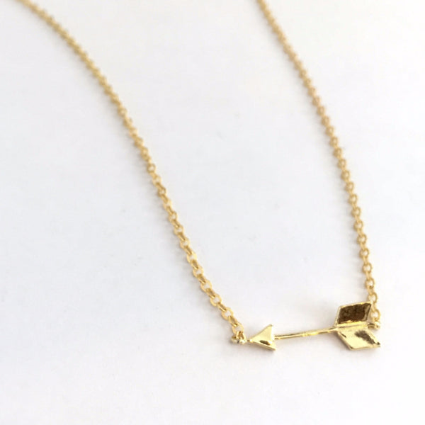 Arrow 14K Gold Sterling Necklace