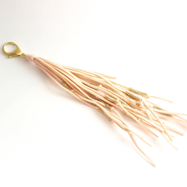 Long Leather Tassel with Clip/ Key FOB