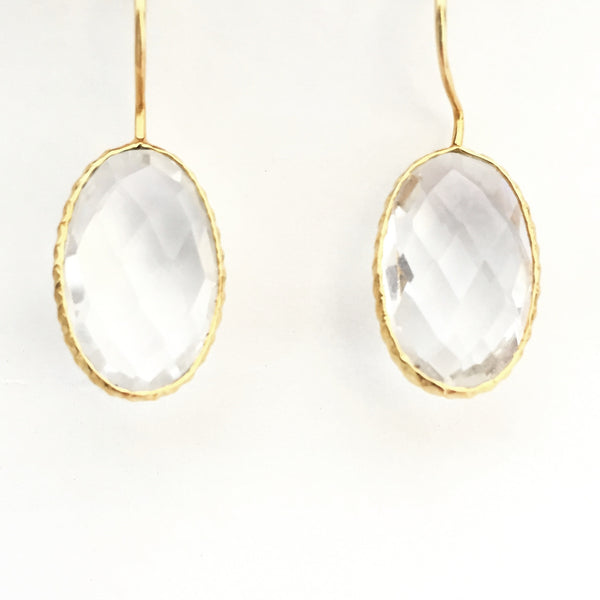 Quartz Drop Earring- Crystal