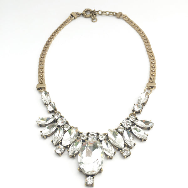 Vintage Crystal Statement Necklace