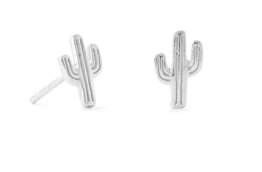 Cactus Sterling Silver Earrings