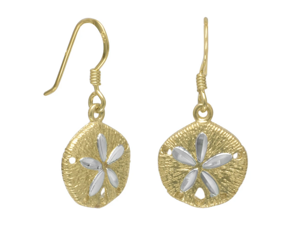 Sand Dollar 14K Earrings