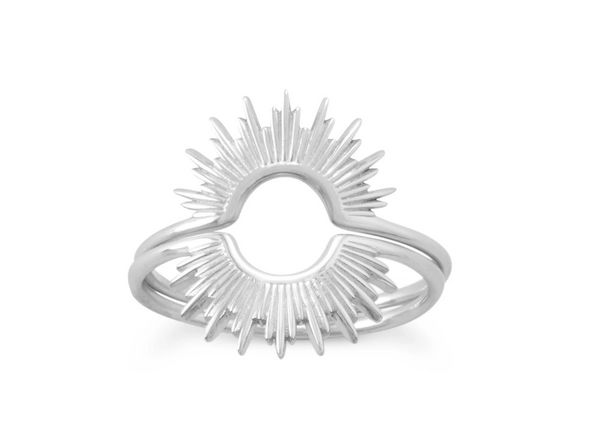 Sterling Silver Rising Sun Ring