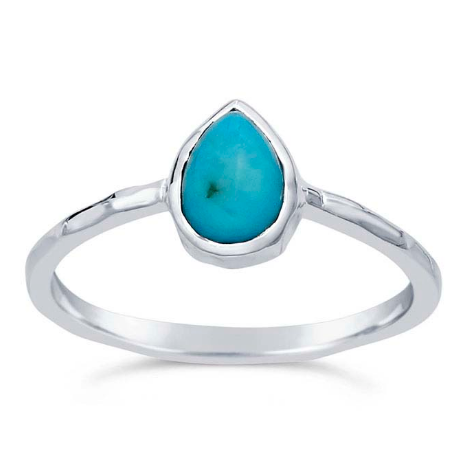 Turquoise Stone Sterling Silver Ring