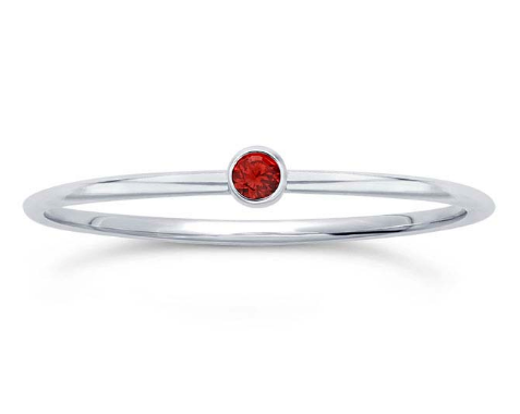 Sterling Silver Ruby Stacking Ring