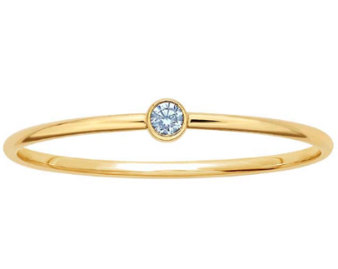 14K Aquamrine Stacking Ring