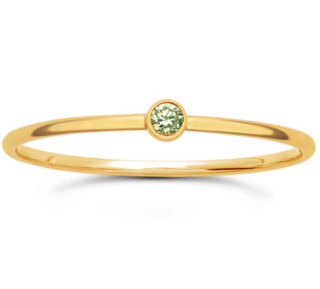 14K Peridot Stacking Ring