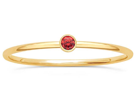 14K Ruby Stacking Ring