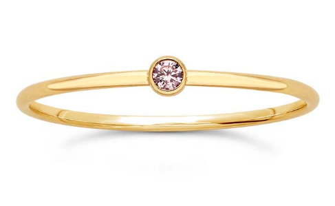 14K Rose Stacking Ring