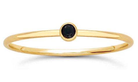 14K Black Stacking Ring