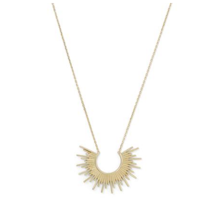 14K Gold Sunburst Necklace