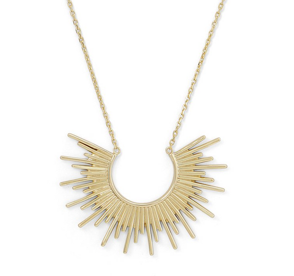 14K Gold Rising Sun Necklace