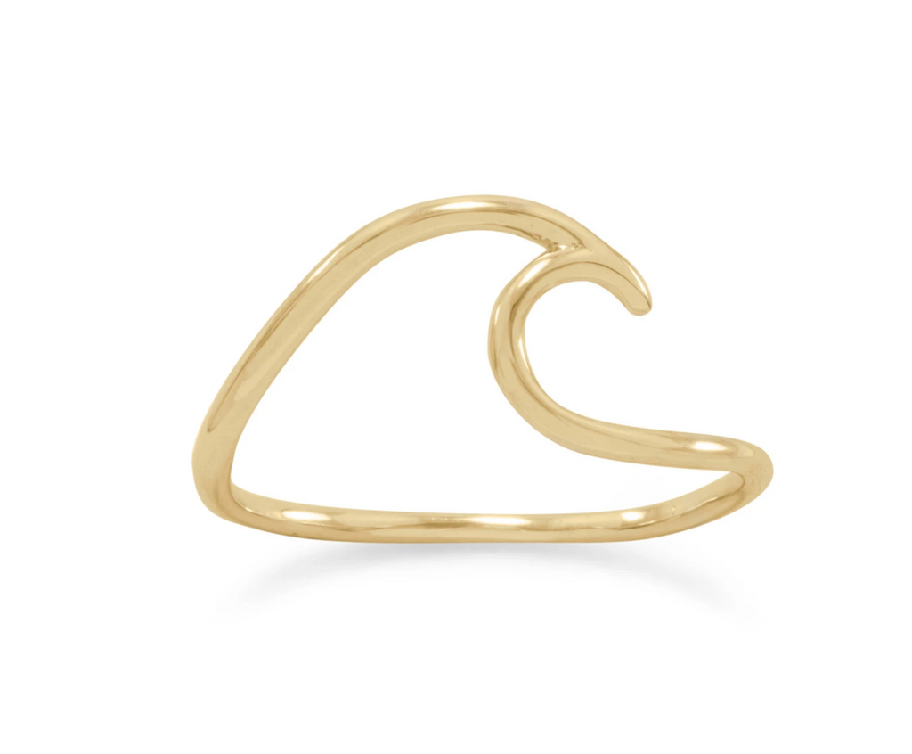 14K Gold Filled Wave Ring
