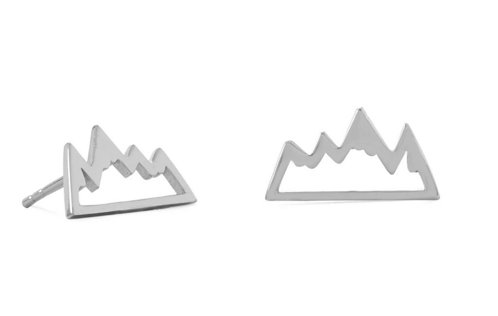 Sterling Mountain Post Earrings
