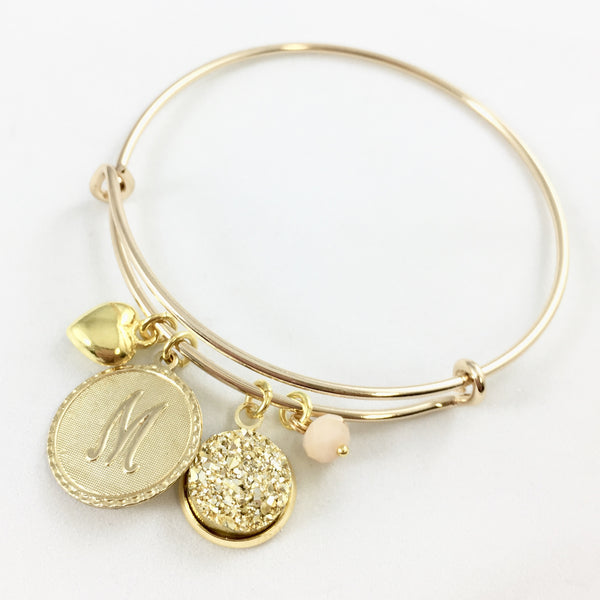 Golden Love Druzy Bangle