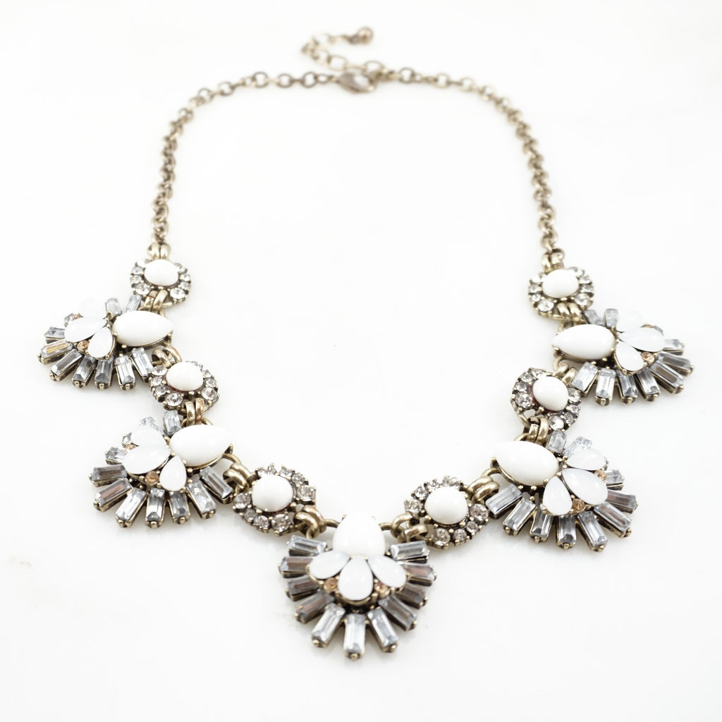 Vintage Stone & Crystal Necklace
