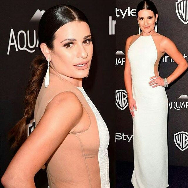 artemes lashes LEA MICHELE - Golden Globes 2016
