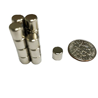 GoodHangups Round Cylinder Magnets 6.35 x 6.35 mm Pieces Diy Personalized Multi Use For Fridge Door Whiteboard Magnetic Map Magnetic Screen Door Bulletin Boards Refrigerators silver 24 pcs