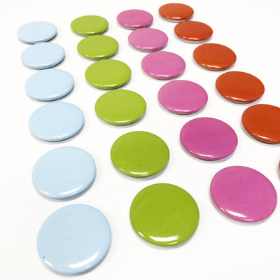 Large Button Style Magnets - Magnets ONLY