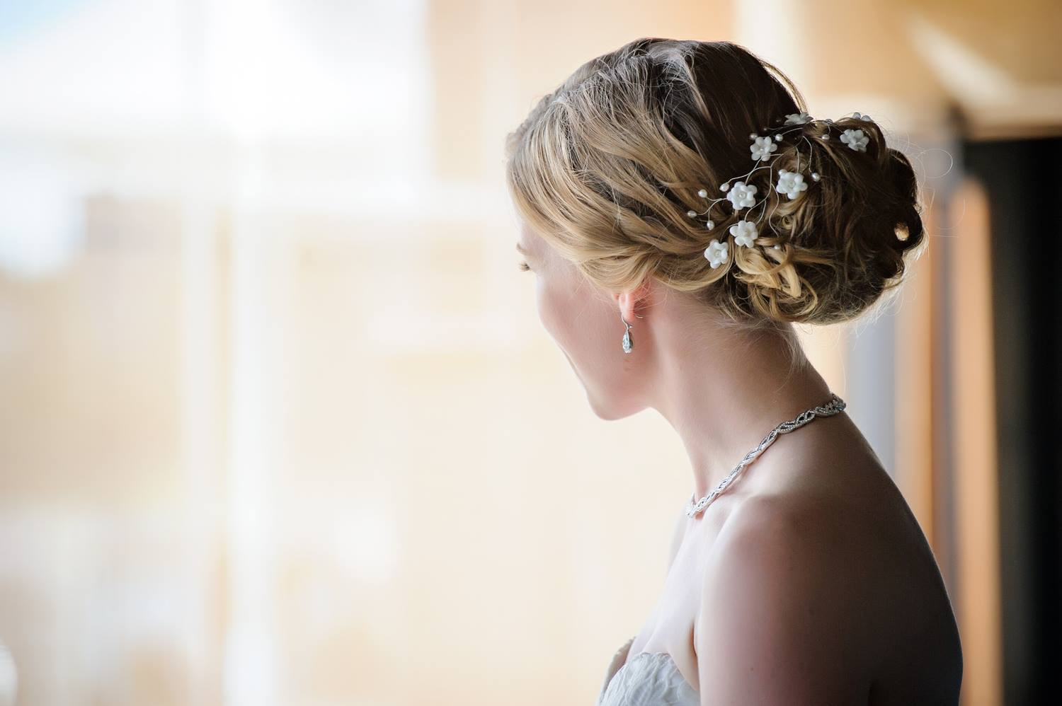 flower crown bridal hair