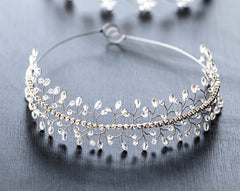 19_ Wedding tiaras, Crystals tiara, Silver crown.