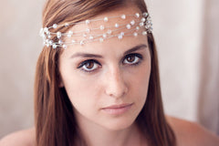 40_ Silver crystal crown, Wedding tiara, Bridal hair accessories.