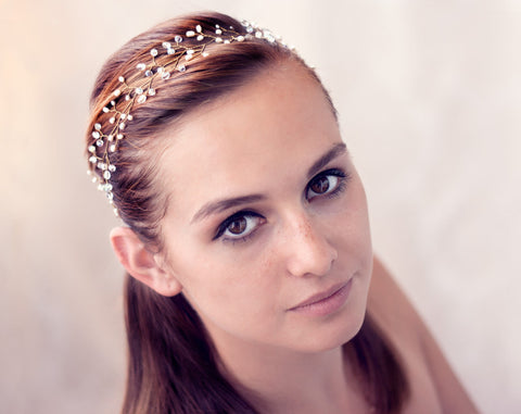 12_ Wedding hairband, Bridal headpiece gold, Hair accessories.