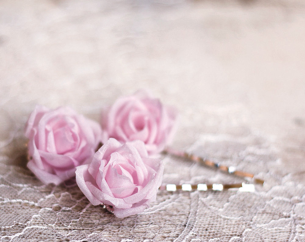 71_Pink rose, Flower, Pin flower, Flower pin, Hair flower, Wedding hair clips, Bridal hair flower, Roses, Silk roses Flower clips Bridesmaid