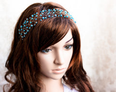 11_ Mint hair accessories, Crystal hair accessories, Silver crown.