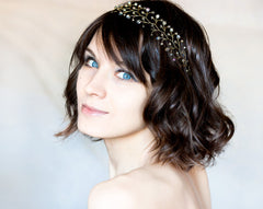 11_ Gold wedding, Crystal headband, Hair accessories.
