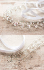 40_ Gold headband, Crystal hair accessories, Bridal crown.