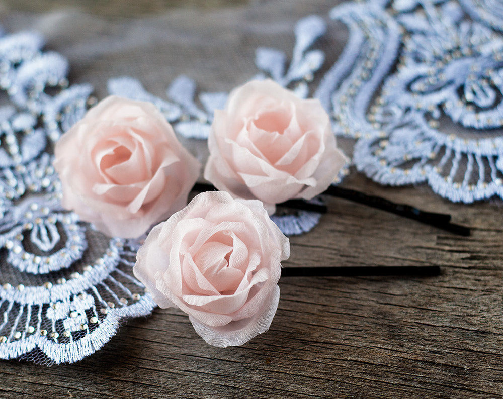71rose Clips Hair Accessories Flowers Hair Clips Flowers Pink